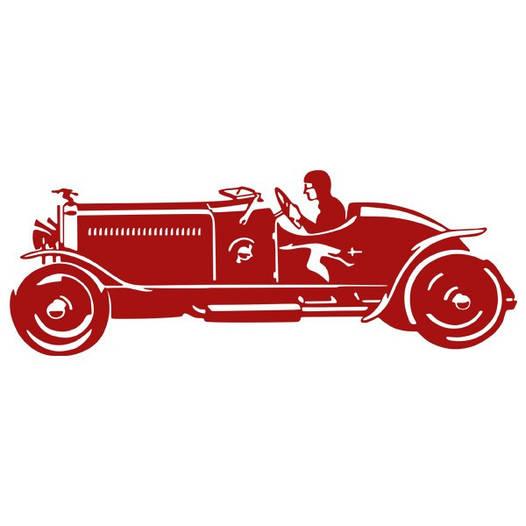 Наклейка интерьерная виниловая (140х50 см, варианты цветов) Sport Car