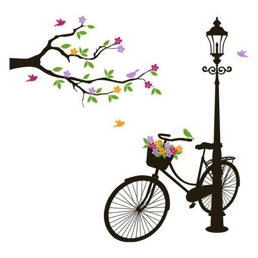 Наклейка интерьерная виниловая (190х180 см, варианты цветов) Street