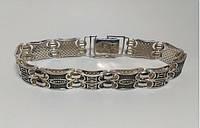 Необычный серебряный браслет мужской Cartier