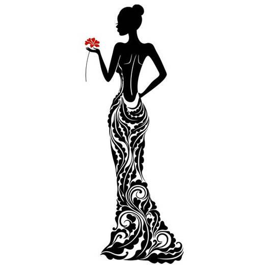 Наклейка интерьерная виниловая (60х150 см, варианты цветов) Lady