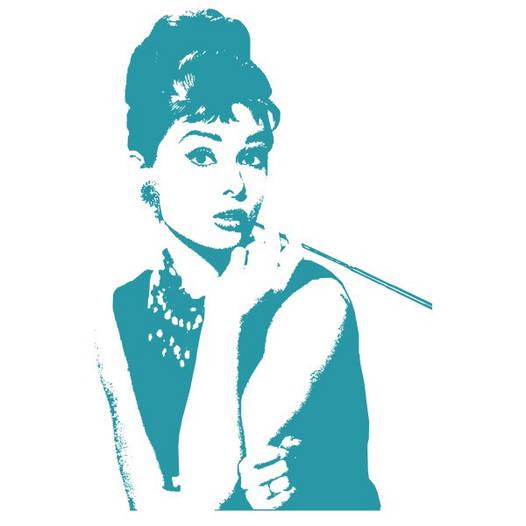 Наклейка интерьерная виниловая (45х70 см, варианты цветов) Audrey Hepburn