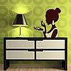Наклейка интерьерная виниловая (50х50 см, варианты цветов) Girl, фото 2