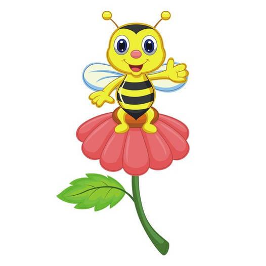 Наклейка интерьерная виниловая (50х90 см) Bee on a Flower
