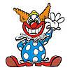 Наклейка интерьерная виниловая (90х100 см) Clown