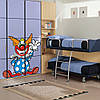 Наклейка интерьерная виниловая (90х100 см) Clown, фото 2