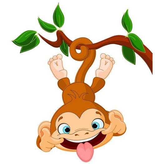 Наклейка интерьерная виниловая (80х90 см) Funny Monkey