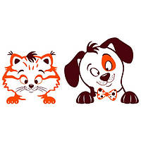 Наклейка интерьерная виниловая (80х40 см) Pets