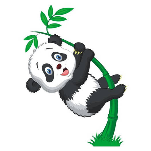 Наклейка интерьерная виниловая (50х70 см) Little Panda