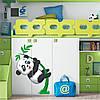 Наклейка интерьерная виниловая (50х70 см) Little Panda, фото 2