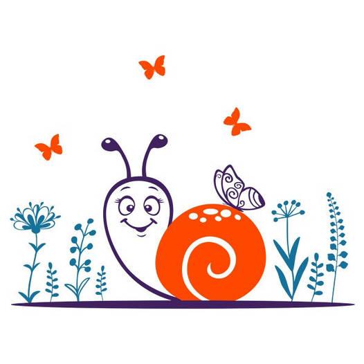 Наклейка интерьерная виниловая (120х90 см) Snail