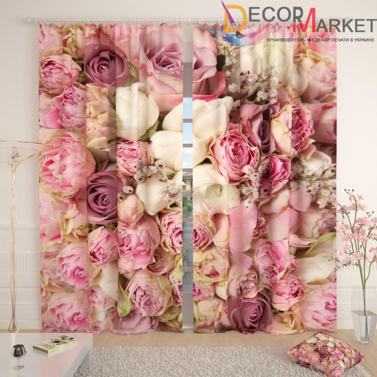 Фотошторы красивые розы
