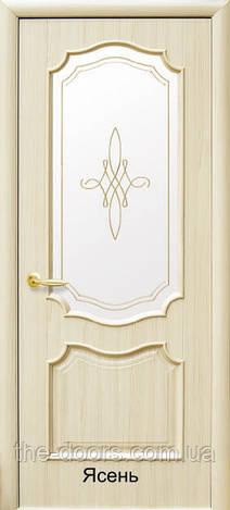 """Двери Рока стекло Gr +Fr Gold пленка пвх """"De Luxe"""""""