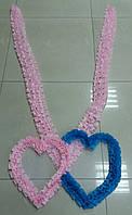 Лента с сердцем (трансформер) розовая