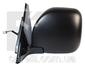 Зеркало левое электро с обогревом складывающееся хром 5pin Pajero 2003-07