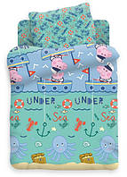 Детский постельный комплект в кроватку «Джордж-рыбак», Свинка Пеппа