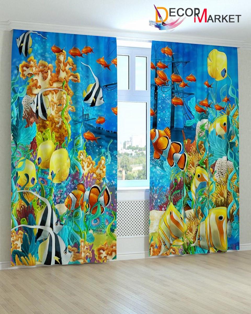 Фотошторы для детской аквариум