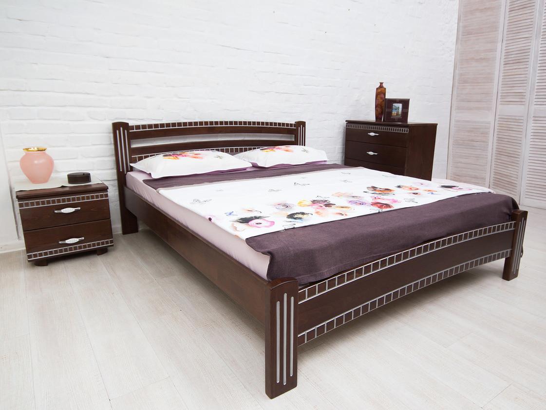 Кровать деревянная Милана Люкс с фрезеровкой ТМ Олимп