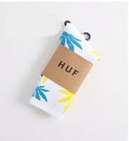 Носки HUF plantlife, белые с разнацветным листом конопли Д01