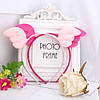 Обруч детский крылышки ангелочка бледно - розовый украшения для волос детские украшения для волос, фото 2