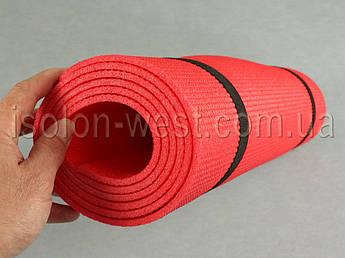 Коврик для йоги и гимнастики - Relax 3005 красный, размер  60 x 180 см., толщина 5мм
