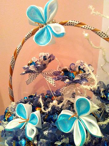 """Букет из конфет на подарок """"Голубинка"""", фото 2"""