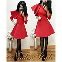 Платье с расклешенной юбкой и воланом 2 цвета SMd1109, фото 1