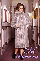 Женское шерстяное пальто больших размеров (50-60) арт. 313 Maila+Unito Тон 64