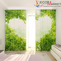 Фотошторы арка из листьев