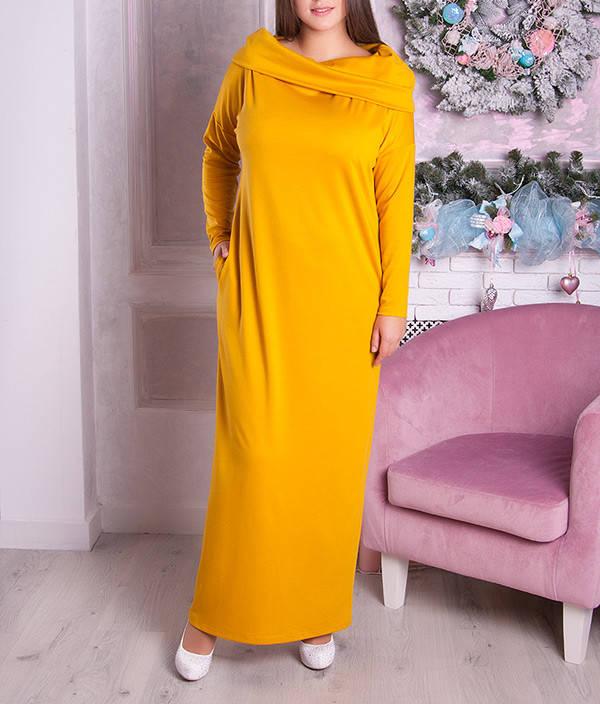 """Женское платье в пол больших размеров """"Фэйлин-2"""" до 70"""