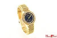 Женские часы Rolex в золоте с черным цифербладом  (копия)