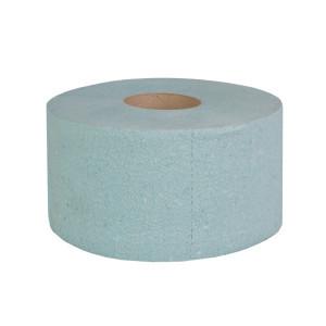 """Туалетная бумага """"Джамбо"""" однослойная (зеленая) с перфорацией, 100 м в рулоне, высота рулона 9,0 см."""