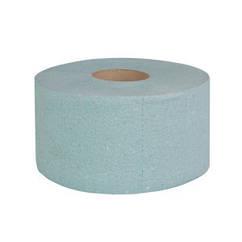 Туалетная бумага Джамбо однослойная (зеленая) с перфорацией, 100 м в рулоне, высота рулона 9,0 см.