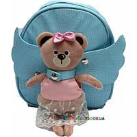 Рюкзак с игрушкой Мишутка голубой