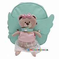 Рюкзак с игрушкой Мишутка зеленый