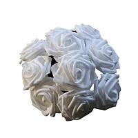 Цветы для причесок для волос розы 8см диаметр свадебный венок