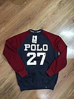 Свитшот реглан мужской Polo новая коллекция весна 2017
