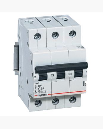 Автоматический выключатель Legrand RX3 3P 63A