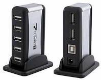 Хаб USB 2.0 на 7 портов + адаптер, usb разветвитель