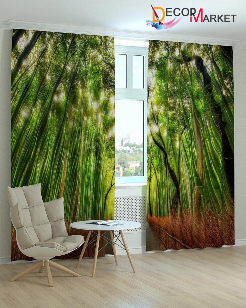 Фотошторы бамбук