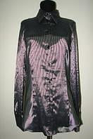Блузка женская черная в полоску Р60