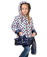 Демисезонная куртка для девочки Микки 98-116 см