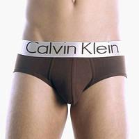 Мужские трусы брифы Calvin Klein steel, коричневые