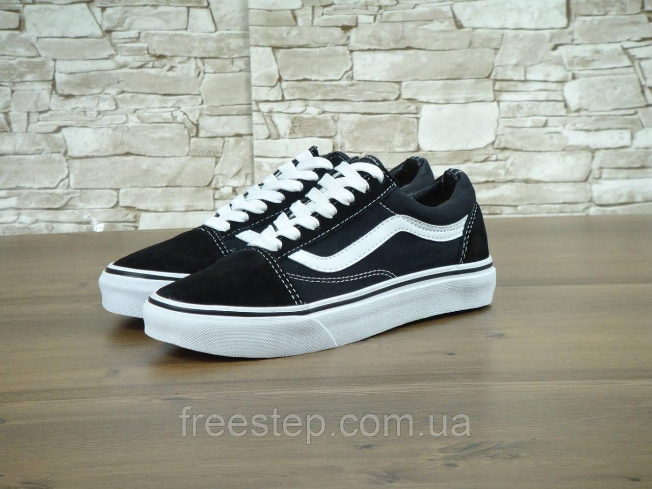 Кеды в стиле Vans Old Skool унисекс замша черные с белым  продажа ... 14c4c9b4396d5