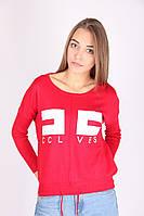 Красная женская кофта с надписью