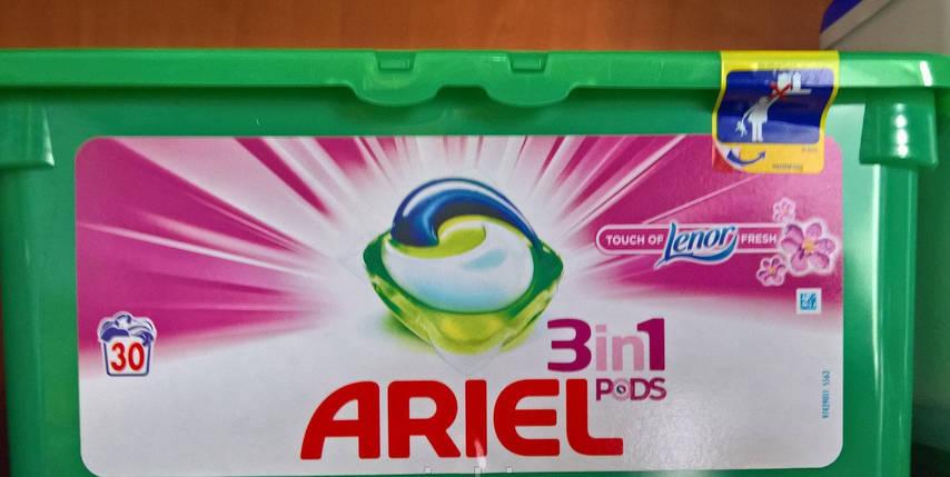 Капсулы для стирки Ariel Lenor 28 шт. Ариель c ленором Бельгия, фото 2