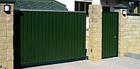 Профнастил ПС10 0,4мм RAL6005 (зеленый) и RAL3005 (вишня), фото 3