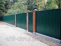 Профнастил ПС10 0,4мм RAL6005 (зеленый) и RAL3005 (вишня), фото 4
