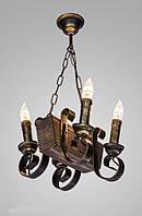 Люстра деревянная подвесная AR-003738 свечи