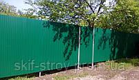 Профнастил ПС10 0,4мм RAL6005 (зеленый) и RAL3005 (вишня), фото 5