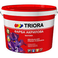 Краска акриловая матовая ТМ «TRIORA», 3 л